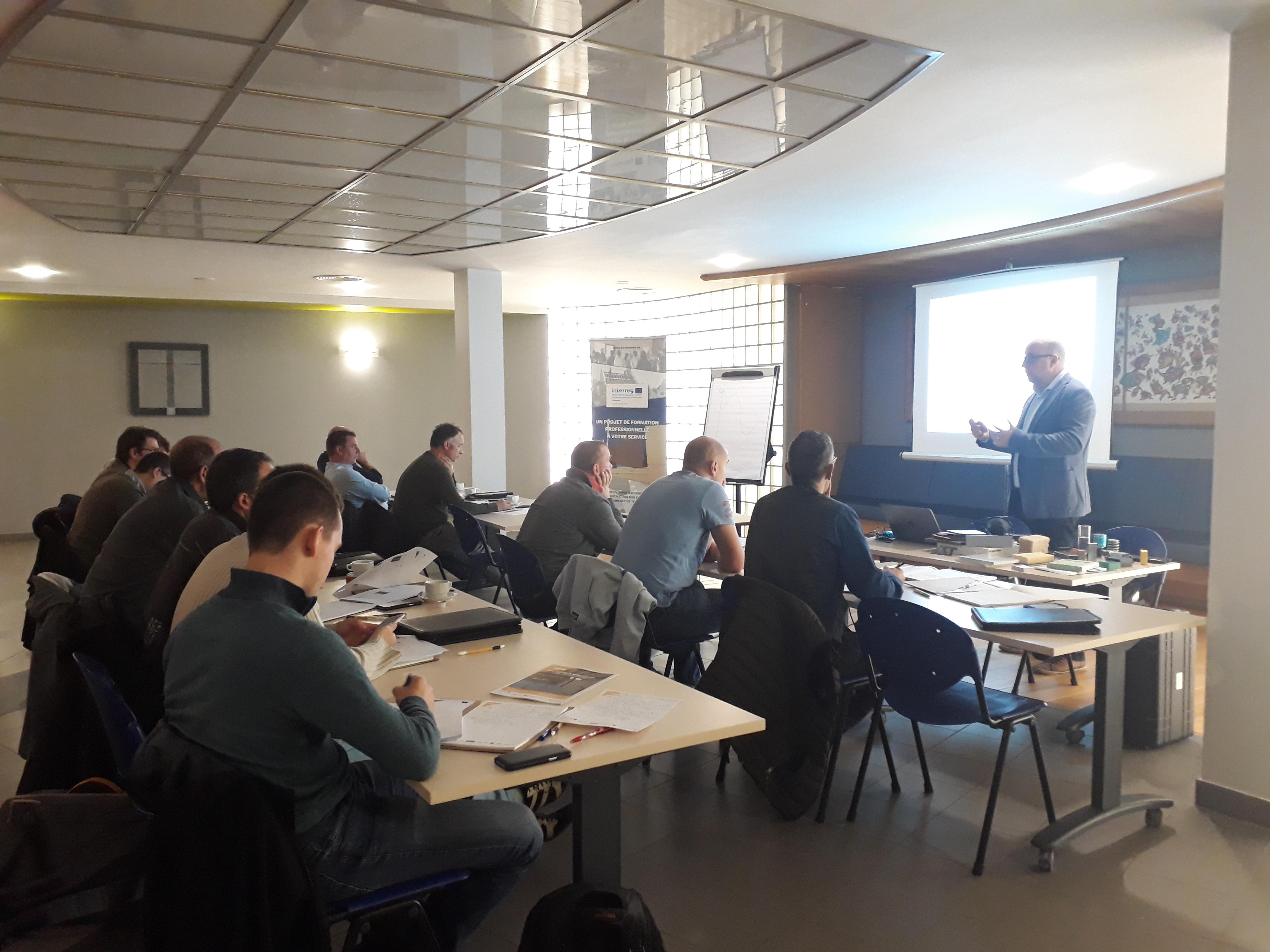 Retour sur la formation « L'isolation acoustique dans les bâtiments en bois » de ce 24 octobre à Charleroi